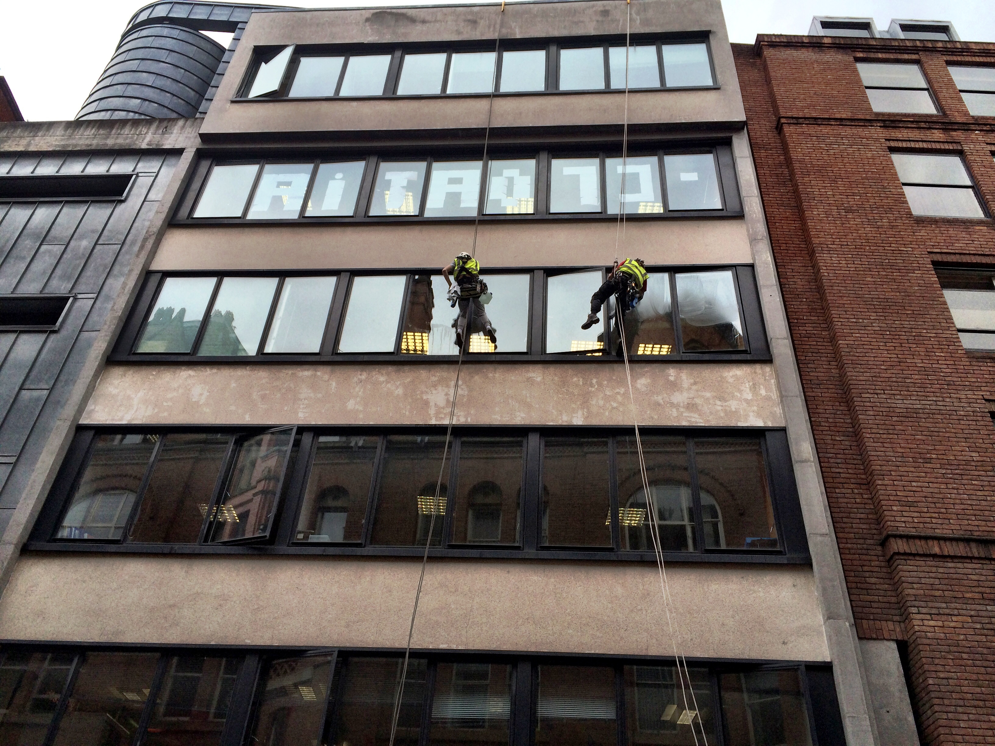 Abseil Window Cleaning Queens House Manchester North