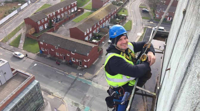 Abseil Window Cleaning Brunswick Manchester
