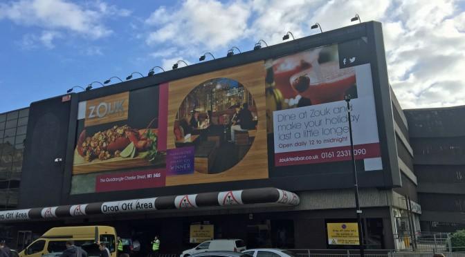 Large format banner installation