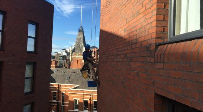 Brick slip inspection Blackfriars Manchester