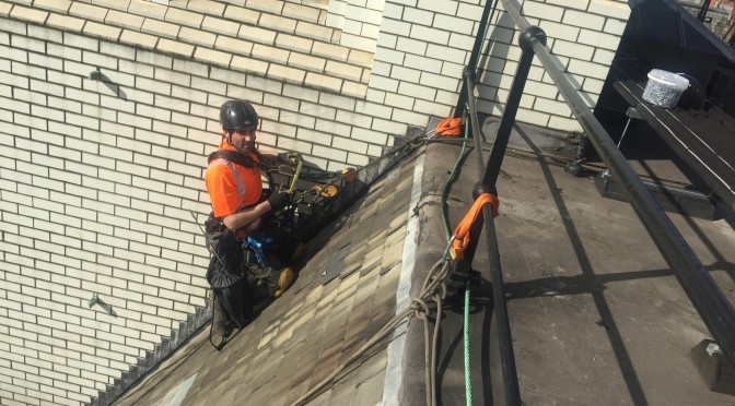 Slate roof repairs to Palace Hotel Manchester