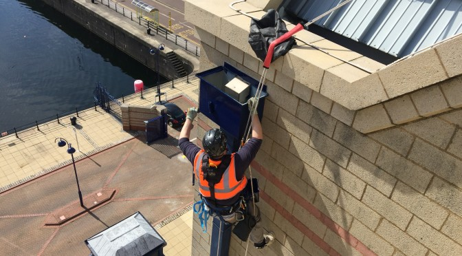 Rope Access painting works to The Keel, Liverpool