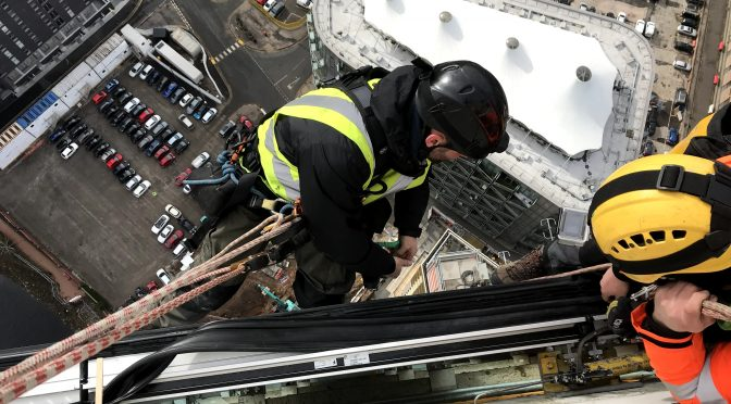 Gasket installation to highrise building